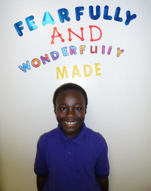 A Community Christian Academy student is fearfully and wonderfully made